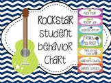 Student ROCKSTAR Behavior Chart {Clip system- chevron}