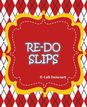 Student Re-do Slips