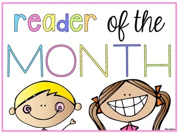 Student & Reader of the Month Mini Posters {Freebie} English and Spanish