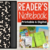 Student Reader's Notebook | Printable & Digital | Distance