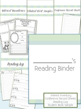 Student Reading Binder with Reading Log