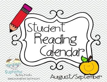 Student Reading Calendar Log