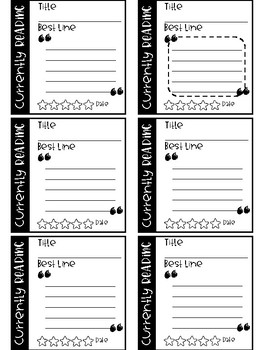Student Reading Cards ( Target Square Labels)