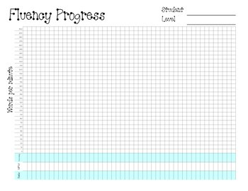 Student Reading Fluency Tracking Chart