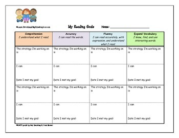Reading Goal Chart for Students