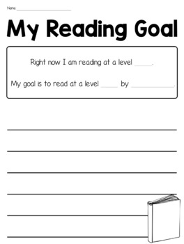 Student Reading Goal Sheets