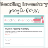 Student Reading Inventory Google Form | Digital & Perfect