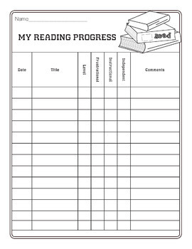 "Student Reading Level ""Mt. Read More"" Tracking Sheet"