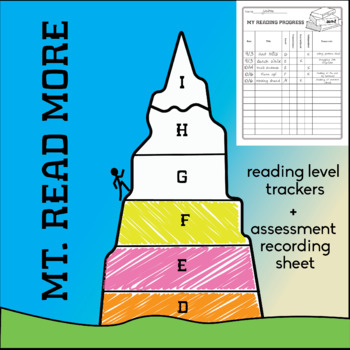 """Student Reading Level """"Mt. Read More"""" Tracking Sheet"""