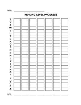 Student Reading Level Progress Graph