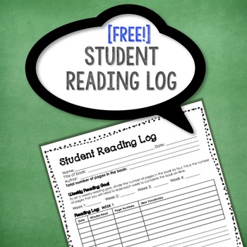 Student Reading Log {FREEBIE!}