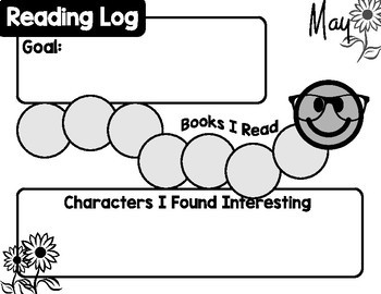 Student Reading Log Doodle Pages - Monthly
