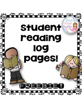 Student Reading Log Pages {FREEBIE!}