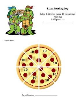 Student Reading Log Pizza