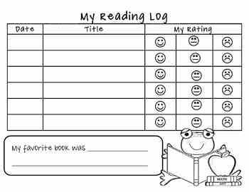 Student Reading Log for Book Bags by Kendragarten Kindergarten | TpT