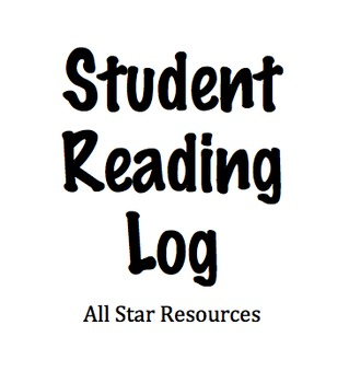 Student Reading Log for Excel or Numbers