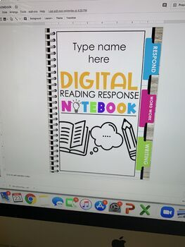 Reading Response Journals | Notebooks | Editable