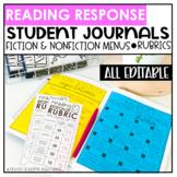 Reading Response Journals   Notebooks   Digital   Editable