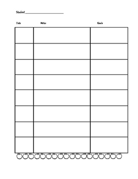 Student Reading Observation and Data Binder