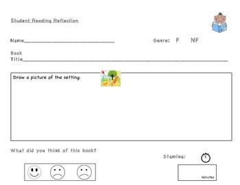 Student Reading Reflection Log