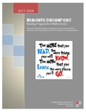 Student Reading Resources and Goals Portfolio