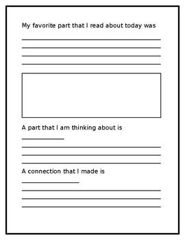 Student Reading Response Journal