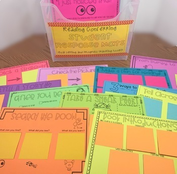 Student Reading Response Mats for Reading Conferences