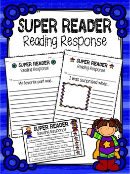 Super Reader Reading Response Worksheets and Checklists