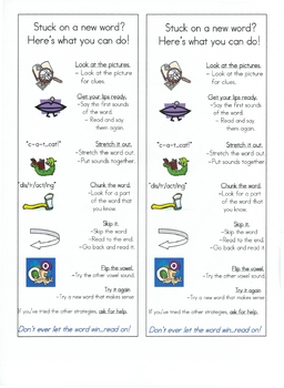 Student Reading Strategy Bookmarks