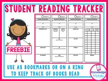 Student Reading Tracker - FREEBIE!!!!