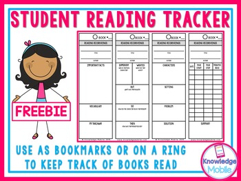Student Reading Tracker - FREEBIE!!!!