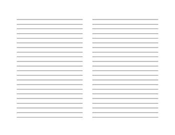 Student Reading/Writing Response Journal