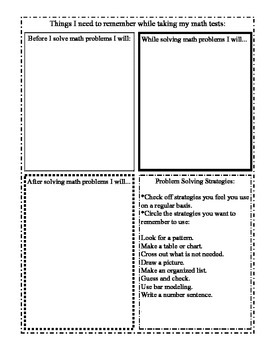 Student Reading/Writing, and Math Goal Sheets for Standardized Testing