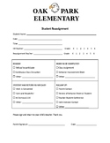 Student Reassignment Form