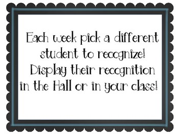 Student Recognition Award Sign