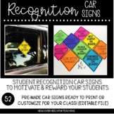 Student Recognition Car Tags {50 Pre-Made Templates Plus Editable Template}