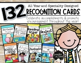 Student Recognition Cards -132 Seasonal Reward Cards to us