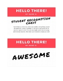Student Recognition Cards