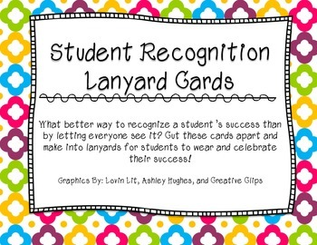 Student Recognition Lanyards