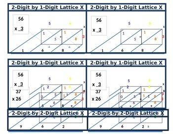 Student Reference Cards - Lattice Multiplication