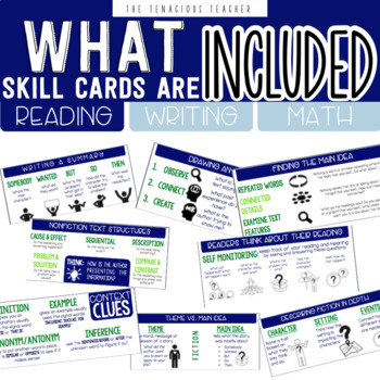 Student Reference Cards: Math, Reading, Writing