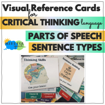 Speech Therapy visuals for Parts of Speech, Grammar, Critical Thinking