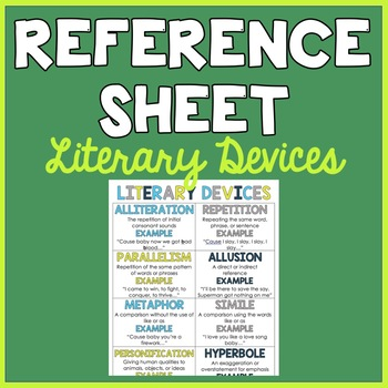 Student Reference Sheet: Literary Devices