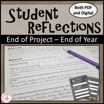 Student Reflection - End of unit/End of Year