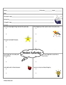 Student Reflection Form