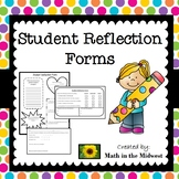 Student Reflection Forms, Student Led Conferences {Editable}