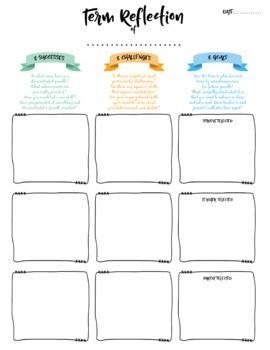 Student Reflection & Goal Setting Scaffold