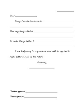 Student Reflection Letter