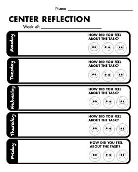 Student Reflection Log/Sheet
