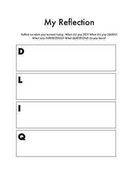 Student Reflection Pack